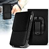 ONX3 Carbon Vertical Pouch Faux Leather Belt Holster