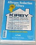ORIGINAL Kirby 6 Staubssaugerbeutel Micron Magic ALLERGEN Filtration Bags für Generation 3 – 6, Ulimate G, Ultimate Diamond