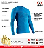 X-Bionic Energizer 4.0 Round Neck Long Sleeves, Strato Base Camicia Funzionale Uomo, Teal Blue/Anthracite, XL