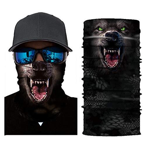 KKmoon Gesicht Maske Motorrad Fahrrad Helm Hals Cool Robot Skeleton Halloween Maske Schal Joker Stirnband Balaclavas für Radfahren Angeln Ski Motorrad Wilder Schal 3D (Halloween Stirnbänder)