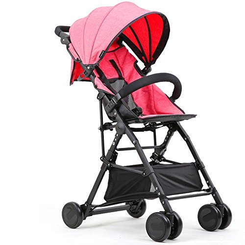 DACHUI Ultra-leichten tragbaren Umgeklappt können hochkarätige Kinderwagen, Baby hand Regenschirm, Baby Stroller (Farbe: - Kind Cabrio Autositz