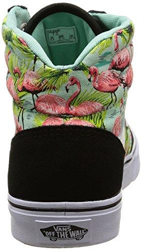 Vans Milton Hi - Scarpe da Ginnastica Basse Donna Nero (flamingo/mint/black)