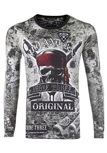 Cipo /& Baxx Men/'s Sweatshirt c5373-white
