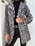 NCKLY Jacke mit Damenprint Wintermantel Damen Jacke Outwear Warmer Mantel Animal Print Streetwear Damen Strickjacke Outwears