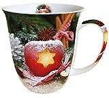 Ambiente Mug Tee / Kaffee Becher ca. 0,4L Apple with star - Apfel mit Stern - Christmas - Weihnachten