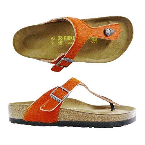 BIRKENTSOCK GIZEH Flip-Flops Schuhe Sandalen (38 EU, orange)