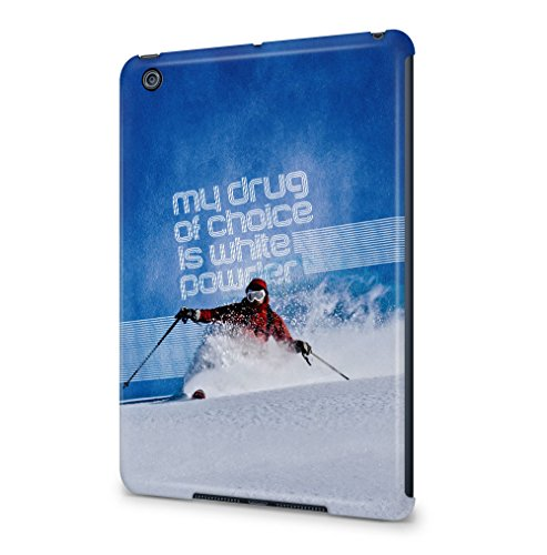 skiing-my-drug-of-choice-quote-apple-ipad-mini-1-snapon-hard-plastic-tablet-protective-case-cover