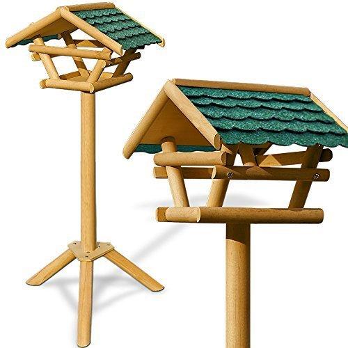 Vogelhaus Vogelhäuschen Futterstation Futterhaus mit Ständer - Bitumendach