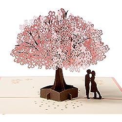 3D-Karte, Pop-up-Karte für die meisten Anlässe, Muttertagskarte, Frühjahrskarte, Geburtstagskarte, Graduierung Karte, Romantik-Karte, Hochzeitstag Karte, Valentinstag-Karte, Hochzeitskarte