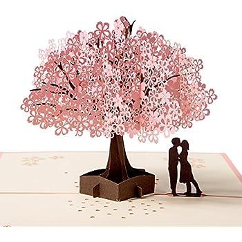 Anniversario Matrimonio Auguri Romantici : Biglietto dauguri matrimonio carta 3d pop up damore per compleanno