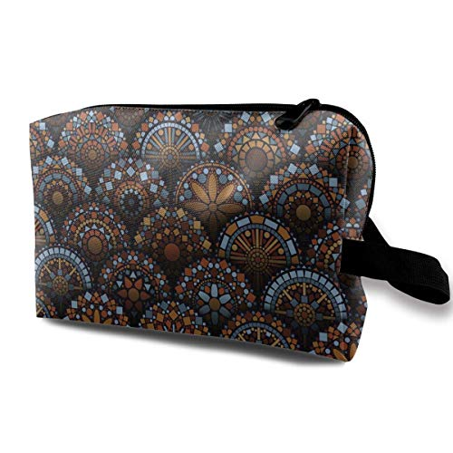 tic Bags Spiritual Geometric Floral Form Multi-Functional Toiletry Makeup Organizer ()