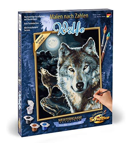 Schipper 609240660 - Malen nach Zahlen, Wölfe, 24 x 30 cm