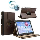 Tablet Tasche für DENVER TAQ-10363 Schutz Hülle Etui Case + Touch Pen – Braun 10.1 Zoll 360˚