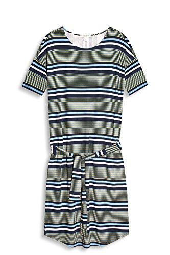 ESPRIT Damen Kleid 057ee1e006 Mehrfarbig (Navy 400)