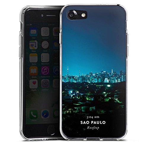 Apple iPhone X Silikon Hülle Case Schutzhülle Brasilien Techno House Silikon Case transparent