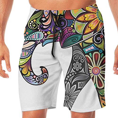 West Beach Pant (Vikimen Herren Badehose Beach Shorts Funny Swim Trunks Men's Beach Pants Retina West Elephant Quick Dry Beachwear Casual Athletic Water Pants)