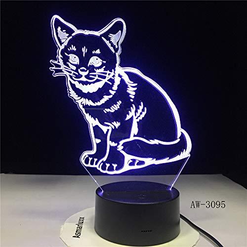 Arbeiten Sie bunte Nachtlichtstereokinderschlafzimmerwohnzimmerbettlichtfarbtischlampe X19## 9 der korallenroten Fische 3D um
