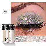 YENJOS - 1 x ombretto da donna, trucco cosmetico con glitter per occhi e labbra in polvere, ombretto, 1,7 x 0,8 pollici, per feste di Halloween, Natale, trucco per bambini