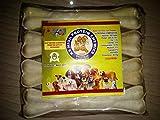 #5: AKC Pressed Raw Hide Dog Bones (8inch x 4 Pieces)