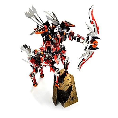 Mqkz the battle of leaders - son of the wind 3d stereo giocattolo in metallo assemblato diy laser cut jigsaw giocattoli regalo/rosso + strumento b/taglia unica