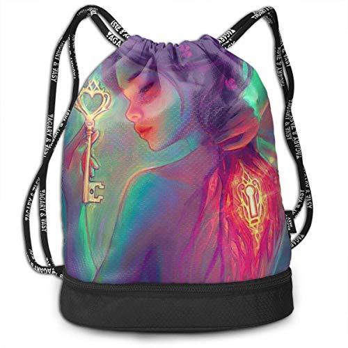ewtretr Turnbeutel Hipster Sporttaschen Destiny Key Drawstring Bags Gym Cinch Storage Bag for Traveling Hiking (Cinch-zeichen)