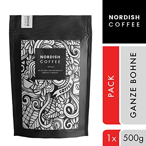 Nordish.Coffee Lively - 500 g Kaffeebohnen - Premium Kaffee Ganze Bohnen - Fair und Direkt - Schonend und Frisch in kleinen Mengen nahe Hamburg Geröstet