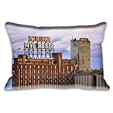 16x24Inch Standard Farine Five Roses, Montreal Pillow Case Decorative Pillow Cushion Cover Pillowcase for Sofa/Bed/Chair/Auto Seat(Twin Sides)