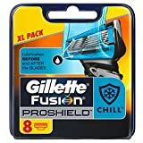 Gillette Fusion ProShield Chill Men's Razor Blades, Pack of 8 Refills