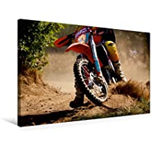 Premium Textil-Leinwand 75 cm x 50 cm quer, Heißer Reifen - Motocross | Wandbild, Bild auf Keilrahmen, Fertigbild auf echter Leinwand, Leinwanddruck (CALVENDO Sport)