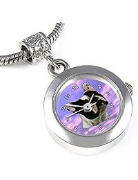 Bulldog francés reloj para el collar o pulsera