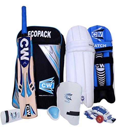 CW Junior Wirtschaft Sports Cricket Kit Blau komplett Vlies Zubehör Set-Größe-6(ohne Cricket-Helm), ideal für 11bis 12Jahre Kind geeignet für Club, Schule, Academy, Praktiken & Training