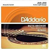 D'Addario EZ900 Juego de cuerdas para guitarra acústica de bronce, 010' - 047'
