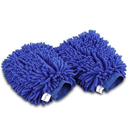 Topist-Guanto-imbottito-in-microfibra-per-lavare-lauto-in-tessuto-di-ciniglia-di-alta-qualit-perfetto-per-pulire-i-dettagli-dellautoConfezione-da-2-pezzi-colore-giallo