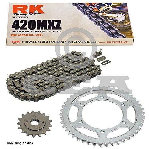 Set catena, corona e pignone per Aprilia MX 5003-04, catena RK 420MX Z 126, aperta, 11/51