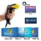 [Upgrade 2.0] 2D QR USB Barcodescanner MUNBYN Handscanner Barcode Scanner Handheld Lesegerät Kabelgebunden für Linux Mac und Windows PC Plug & Play