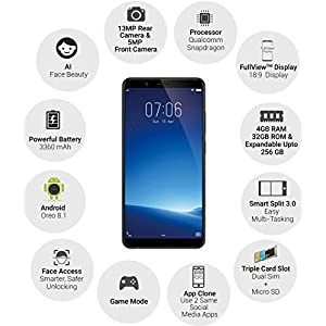 Vivo Y71 (Matte Black, 32GB) with Offers