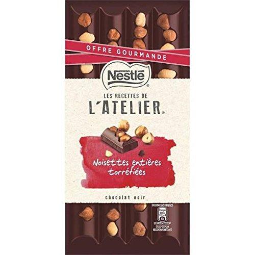 Nestlé les recettes de l'atelier noir noisettes offre gourmande 195g - ( Prix Unitaire ) - Envoi Rapide Et Soignée