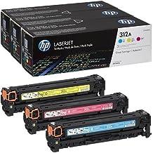 HP 312A 3-pack Cyan/Magenta/Yellow Original LaserJet Toner Cartridges (CF440AM)