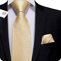 Idea Regalo - Hi-Tie Cravatta classica da uomo con gemelli e pochette