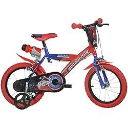 Bicicleta marca Dino Bikes 14-inch Spider Man Children's Bike