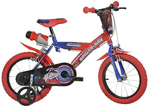 Dino Bikes - 143 G-SA - Vélo pour garçon 14 de 5 à 7 ans - Spiderman