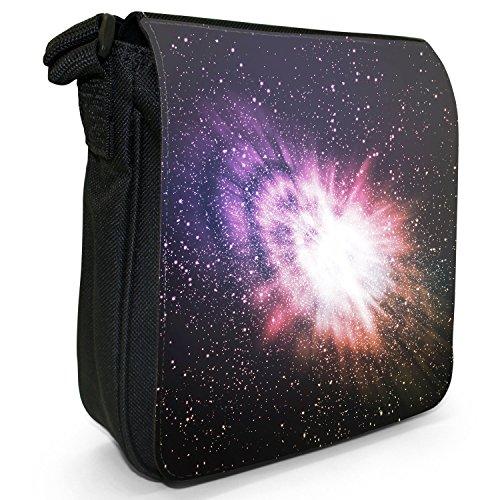 Esplorazione dello Spazio sacchetto di tela borsa a tracolla colore Nero Taglia S Cosmic Explosion