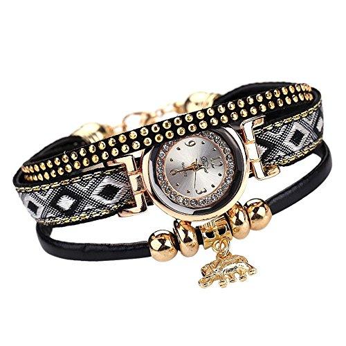 Occitop - Reloj de Pulsera para Mujer, diseño de Elefante Dorado