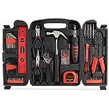FIXKIT Werkzeugset im Koffer Werkzeugkoffer Werkzeugkasten f¡§1r den Haushaltsbereich Universal-Haushalts-Werkzeugkoffer (129 teilig)