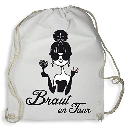 tel Rucksack Braut on Tour - Junggesellenabschied Tasche (Weiß) ()