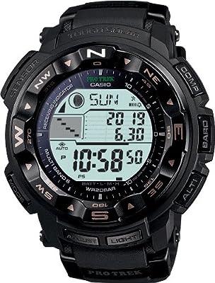 Casio PRW-2500-1ER - Reloj digital de cuarzo para hombre con correa de resina, color negro