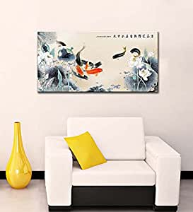 """Tallenge - Painting of Luck and Wealth - Small Size Premium Quality Gallery Wrap Canvas Art Print (12""""x24"""")"""