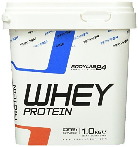 Bodylab24 Whey Protein Eiweißpulver, Geschmack: Haselnuss-Schoko, hochwertiges Proteinpulver, Low Carb Eiweiß-Shake für Muskelaufbau und Fitness, 1000g