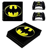 Hytech Plus ' Batman Logo Theme Sticker ' for PS4 Pro Console and 2 Controllers