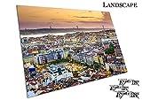 Poster Druck Lissabon Portugal Skyline at Dusk City Skyline